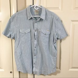 Lucky Brand button up shirt snap front linen blend